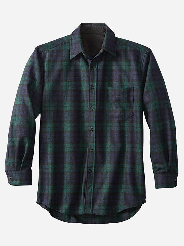 Men Casual Long Sleeves Plaid Shirt