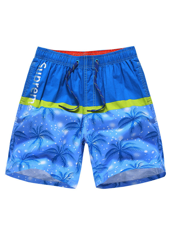 Men Hawaii Style Casual Soft Summer Fashion Swimming Trunks