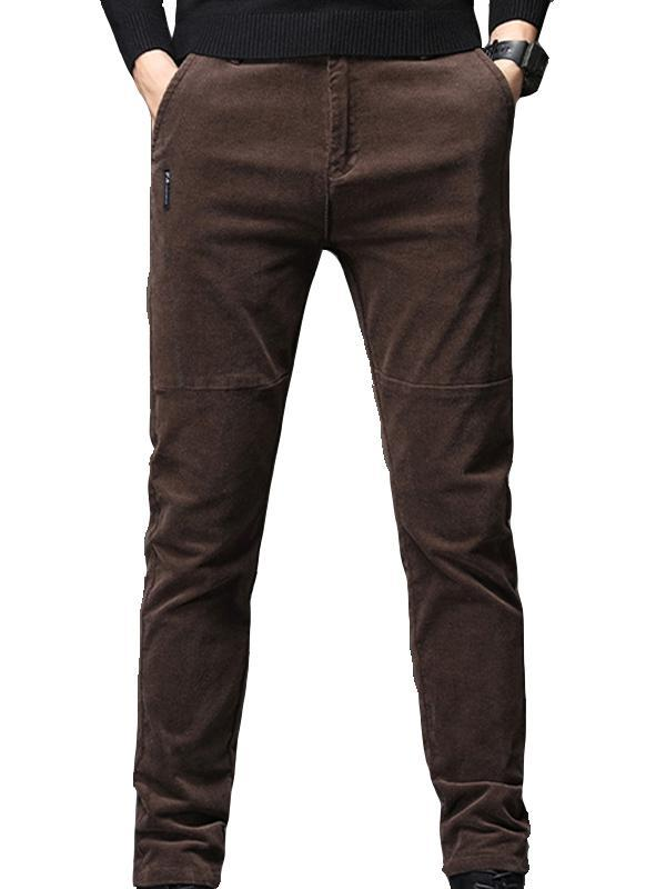 Winter Men Corduroy Straight Leg Pant