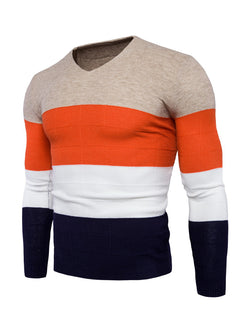 Men Color Block Knitted Sweater