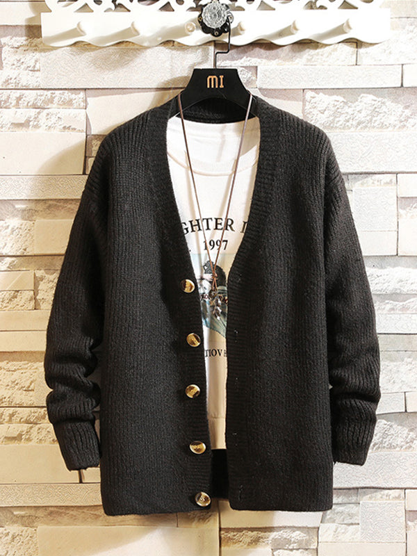 Men's Long Sleeve Casual Cardigan