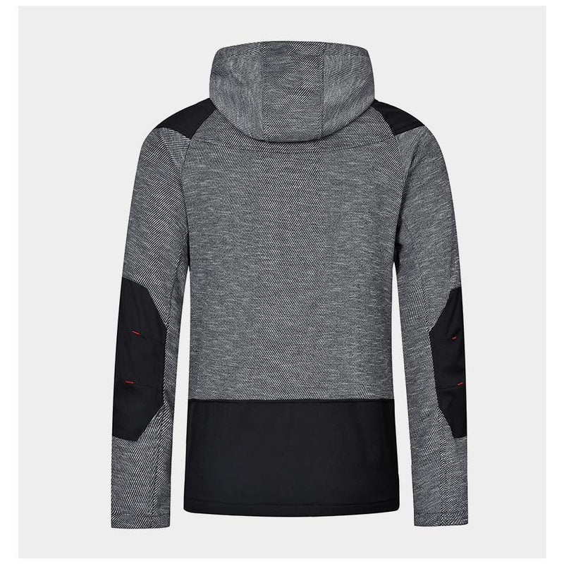 Men Colorblock Casual Hooded Jacket