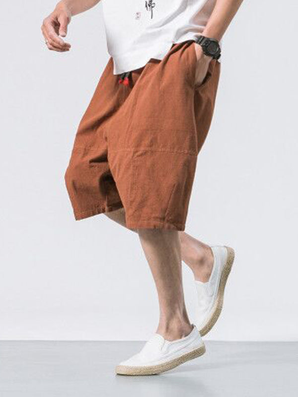 Men Casual Fashion Lace-Up Pants Shorts