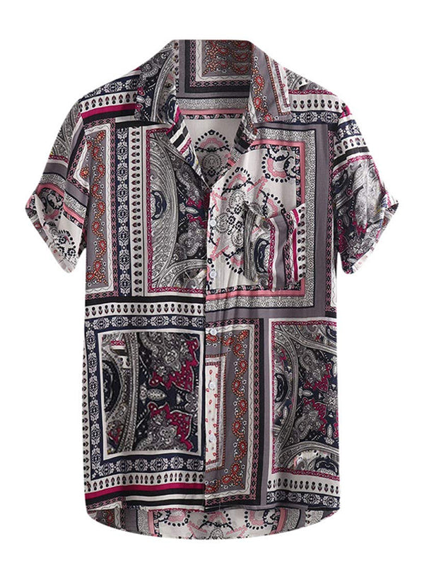 Men's Tropical Printed Short Sleeve Shirts
