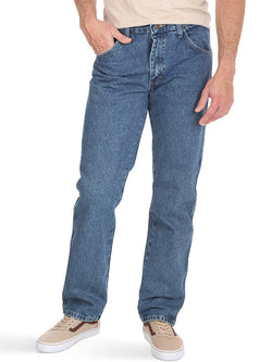 Men Solid Color Loose Casual Jeans