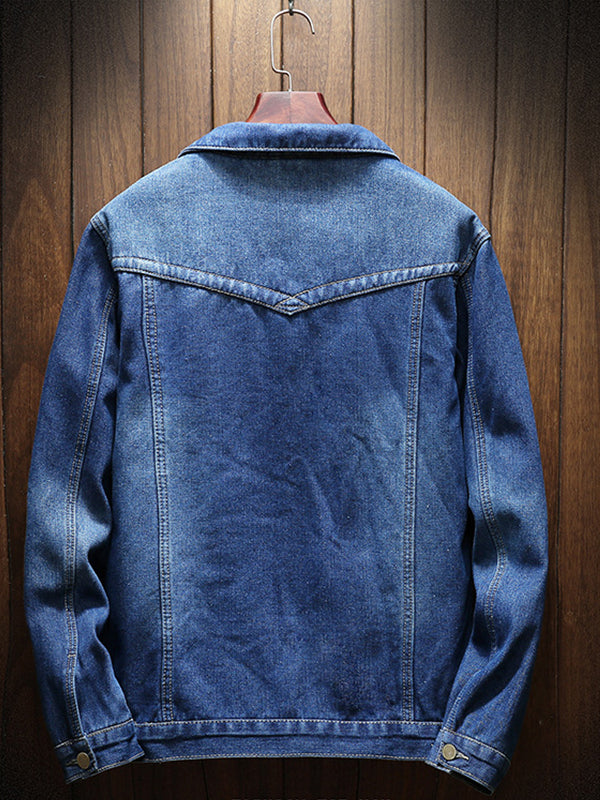 Men Thick Casual Denim Jacket