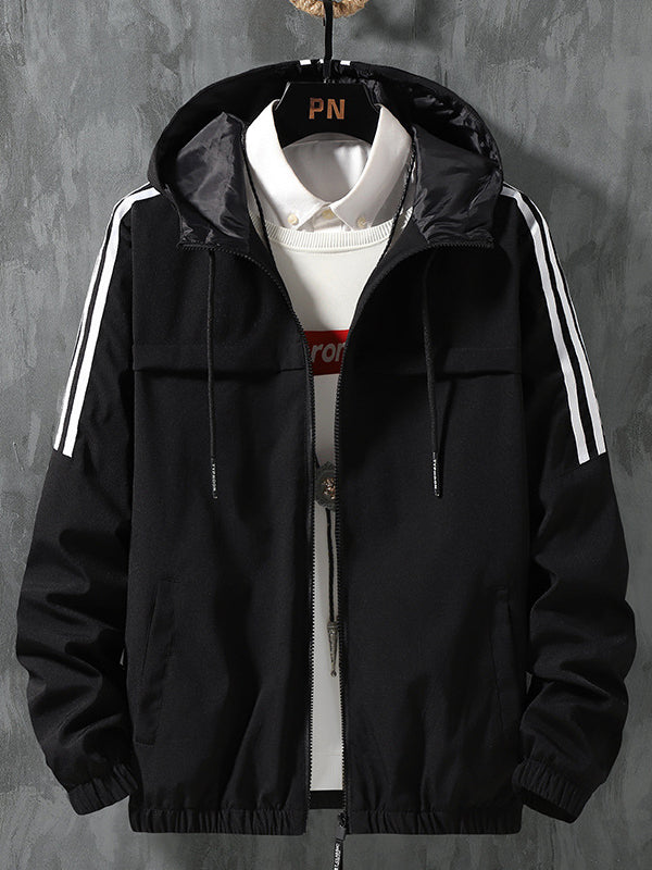 Men Panelled Hooded Casual Jacket