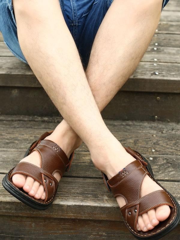 Solid Simple Casual Flat Sandal