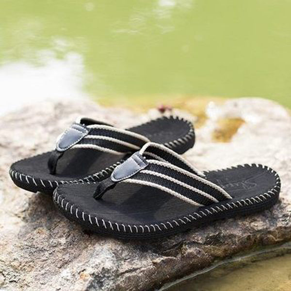 Men Summer Beach Woven Flip Flops Sandal