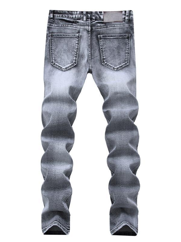 Men Casual Classic Column Jeans