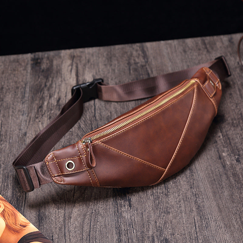 Men Casual Zipper Crossbody Bag