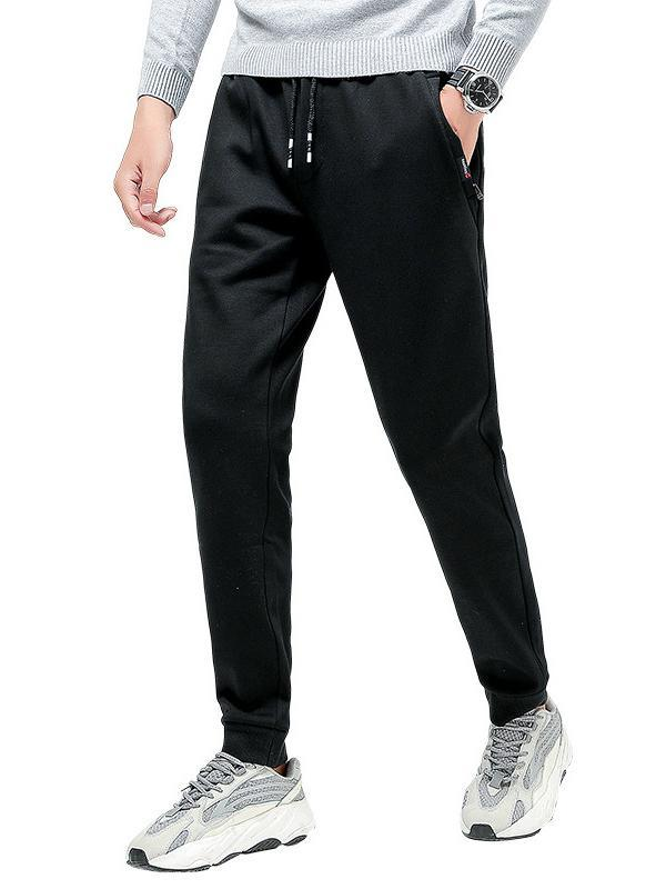 Men Casual Plus Cashmere Skinny Leg Pant