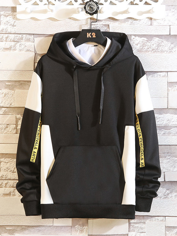 Men's Long Sleeve Hooded Pockets Hoodies