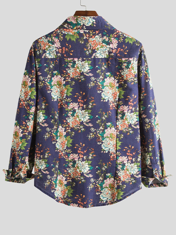 Men Printed Long Sleeve Shirt