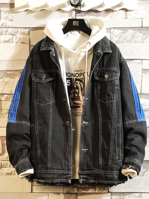 Men's Casual Hooded Patchwork Jacket
