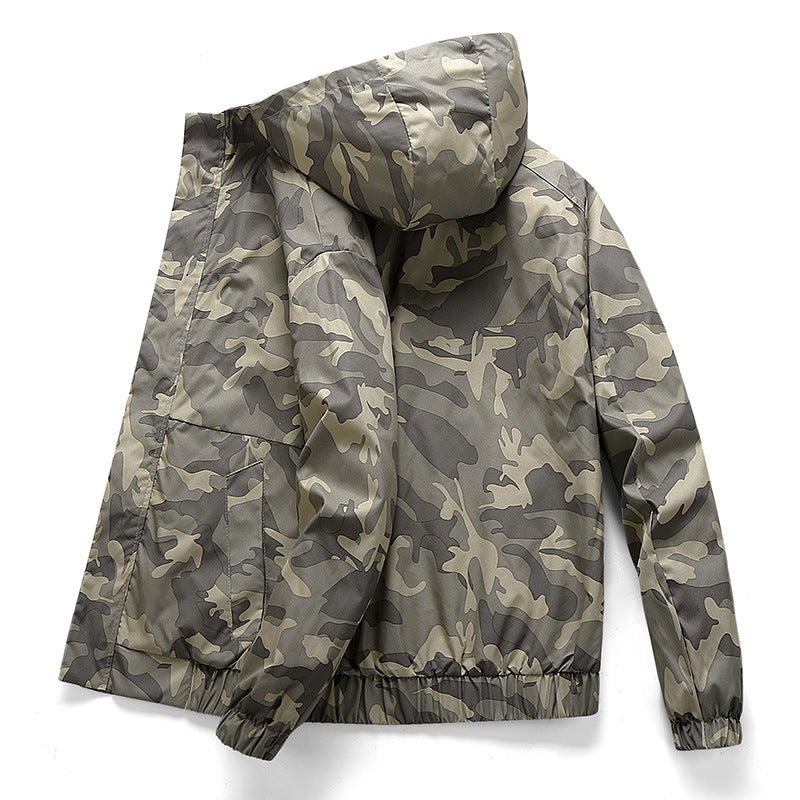 Men Camouflage Loose Casual Jacket