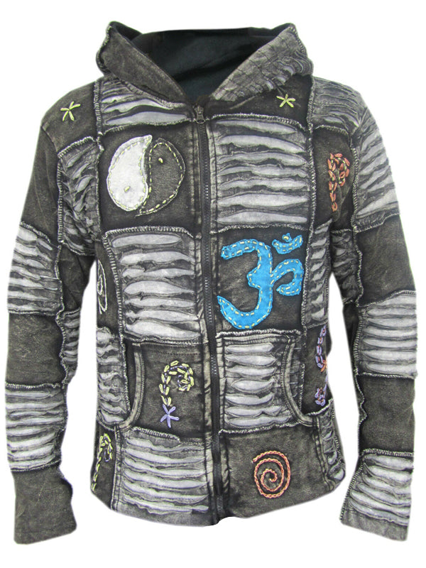Men Printed Hooded Casual Jacket