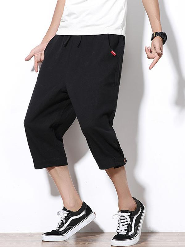Men Solid Casual Pants