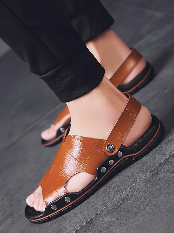 Men Breathable Casual Flat Sandal