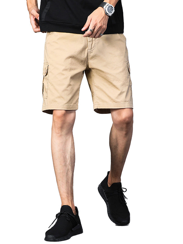 Men Solid Casual Pants Shorts