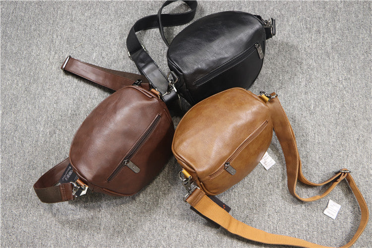 Men Hemispherical Slash Crossbody Bags
