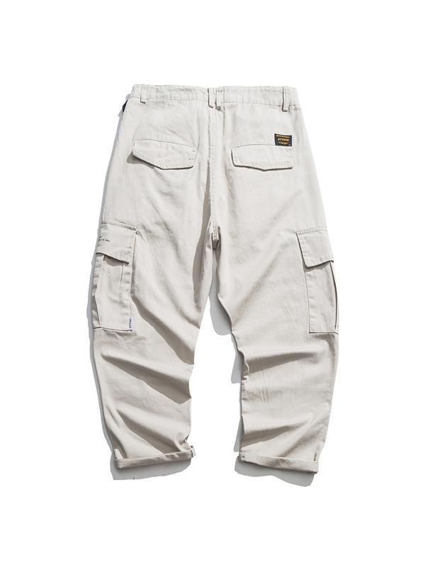 Men's Solid Casual Straight Leg Pants