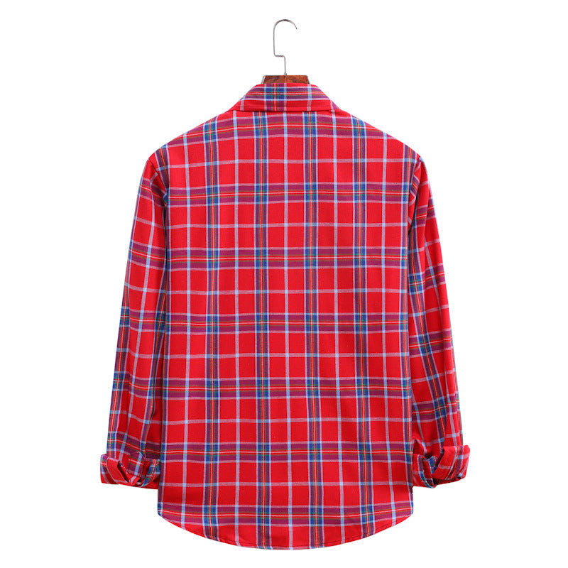 Men Casual  Long Sleeves Plaid Shirts
