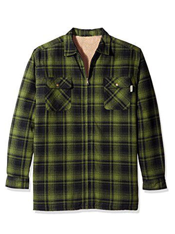 Men's Loose Fitting Long Sleeve Plaid Shirt