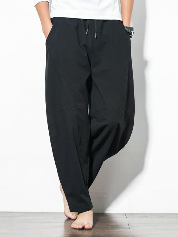 Men Loose Wide Leg Pants