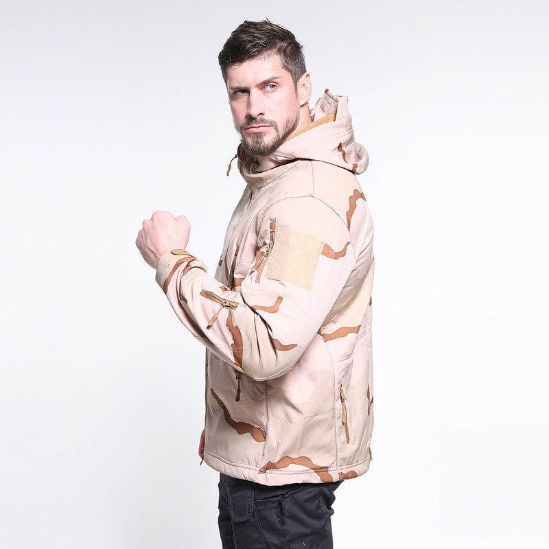 Men Casual Hooded Sports Camouflage Jacket