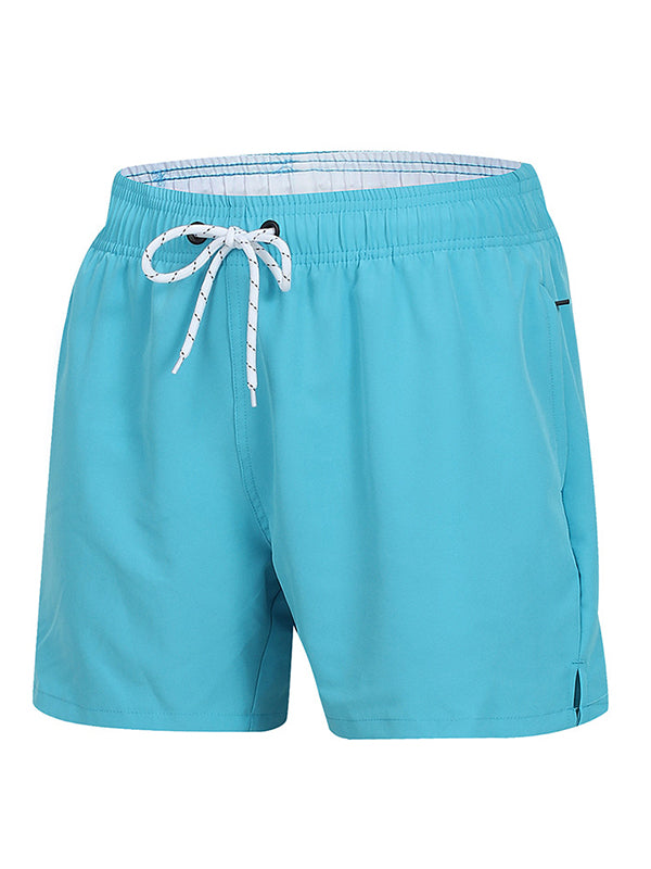 Men Beach Lined Printed Shorts