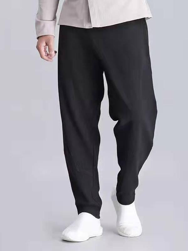 Men Casual Tapered Harem Pants