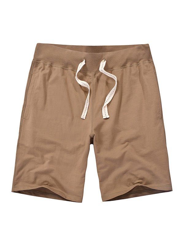 Men Solid Comfortable Lace-Up Shorts