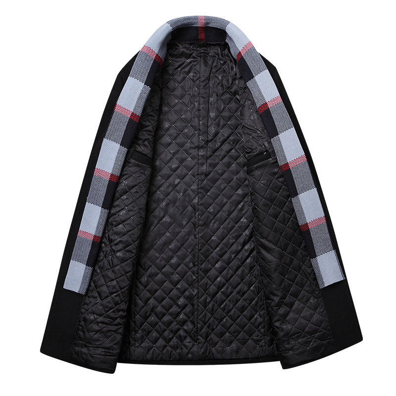 Men's Casual With Scarf Coat