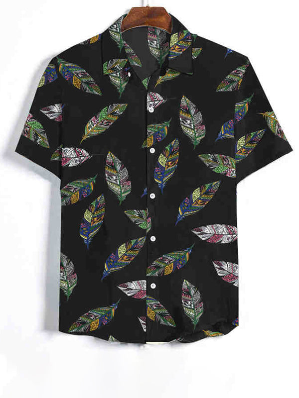 Men Summer Fashion Hawaii Style Short Sleeves Shirt