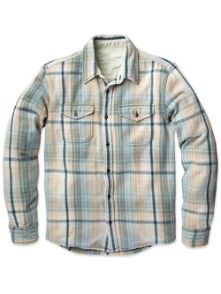 Men Lapel Plaid Casual Shirt