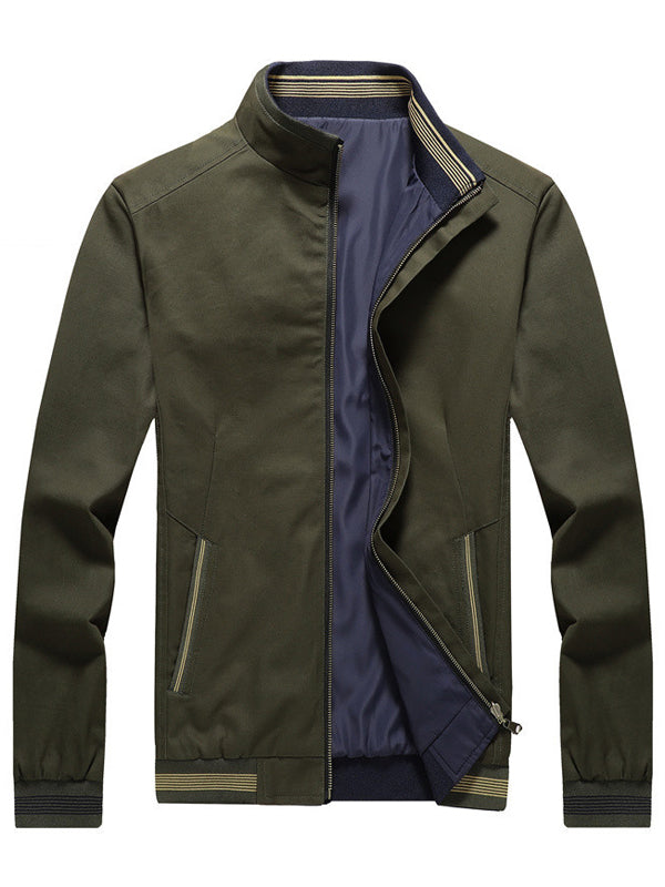 Men Stand Collar Casual Jacket