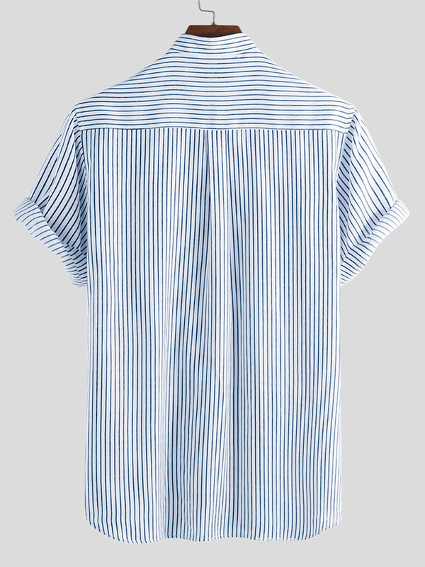 Mens Summer Striped Blouses&Shirts