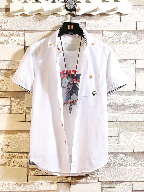 Men's Slim Fit Collar Short Sleeve Shirt