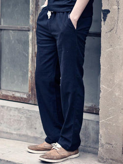 Men Loose Straight Leg Casual Pants