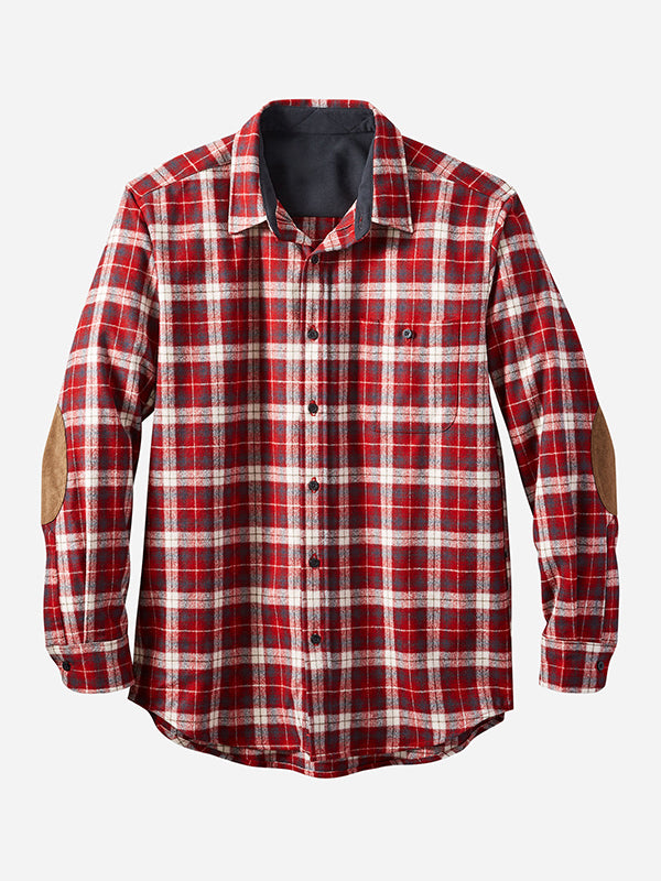 Men Long Sleeve Plaid Shirt