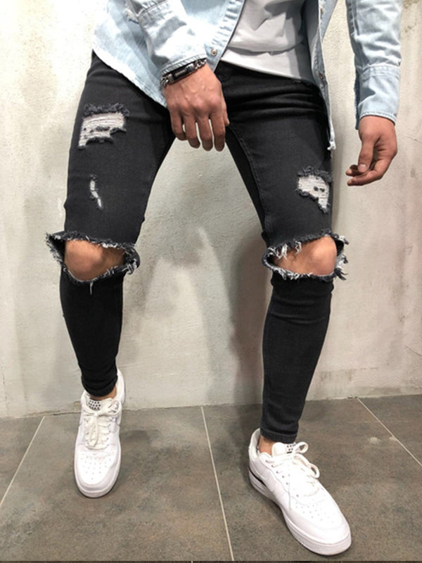 Men Slim Fit Slim-Leg Jeans