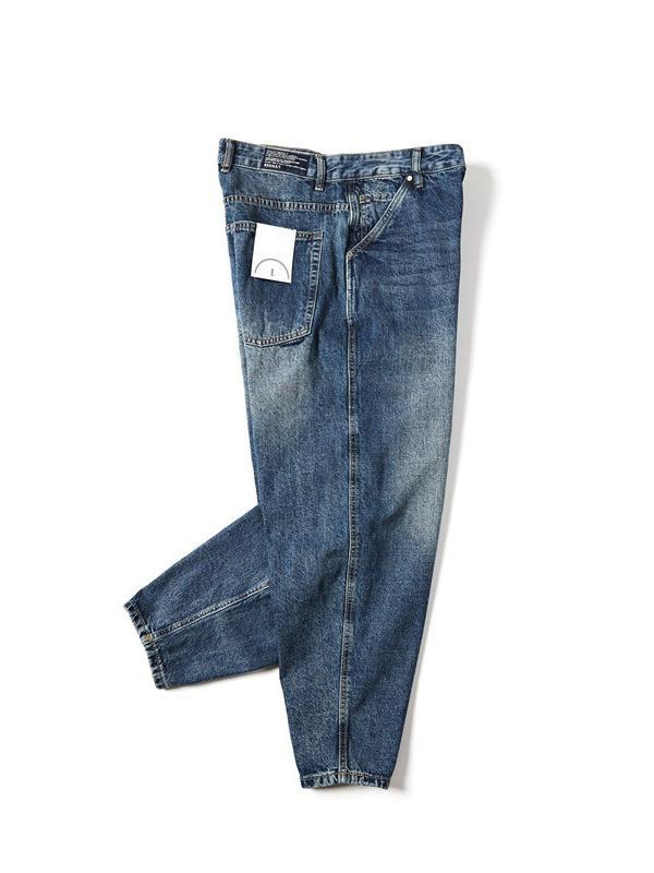 Men's Loose Solid Denim Pants