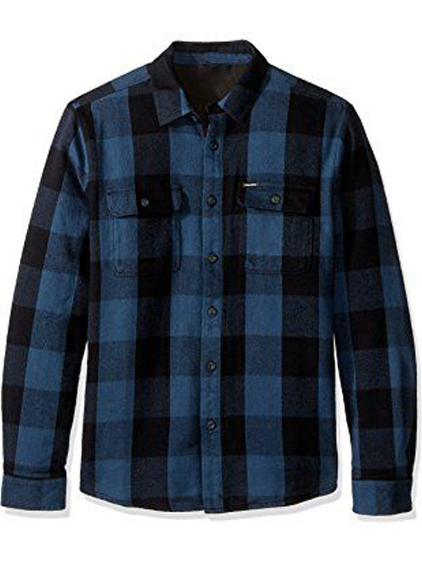 Men's Plaid Retro Simple Long Sleeve Shirt