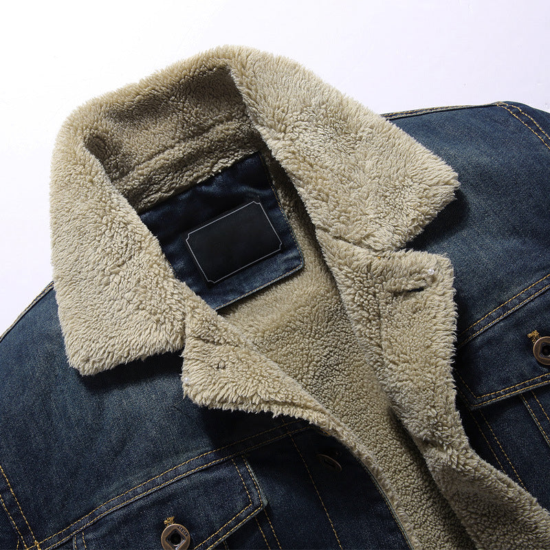 Men Plus Fleece Thick Casual Loose Jacket