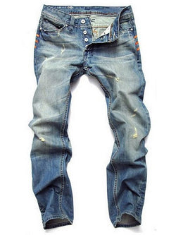 Man Casual Hallow Denim Jeans