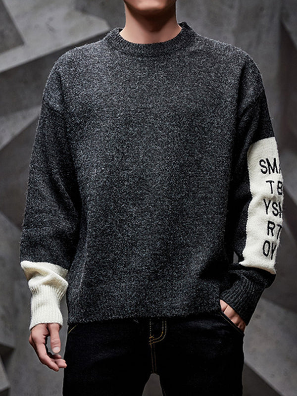 Men's Round Neck Thick Knit Sweater
