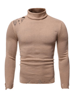 Men's Loose Turtleneck Sweater