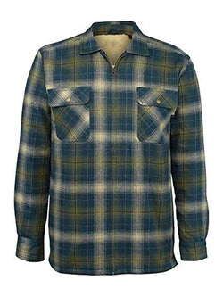 Men's Loose Long Sleeve Plaid Thick Shirt