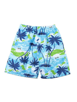 Men Casual Summer Beach Hawaii Style Swim Trunks